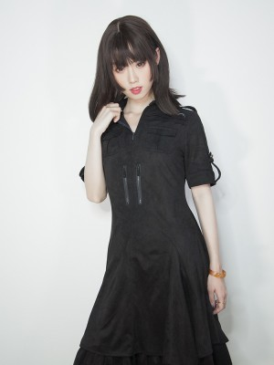 +Jeanne d'Arc+ Gothic Dark Military Thick One-piece 133