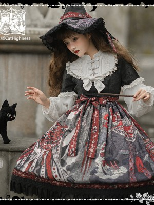 Cat Highness - Shape of Witch Gothic One-piece