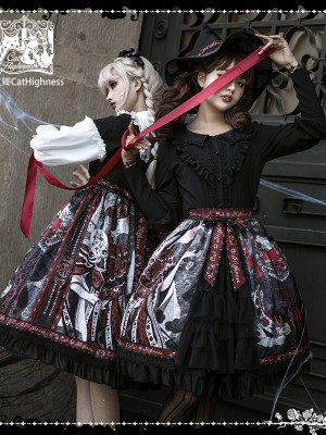 Cat Highness - Shape of Witch Gothic Skirt