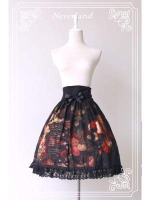 Flower-choosing Girl High-waisted Skirt