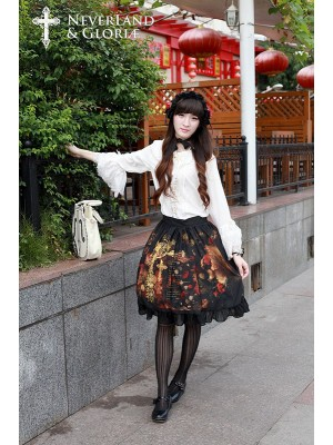 Flower-choosing Girl Normal Waist Skirt