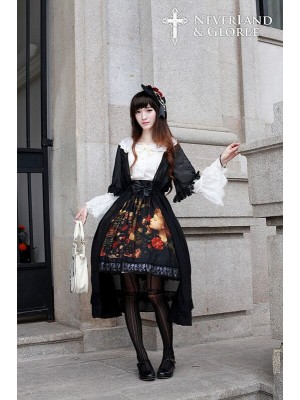 Flower-choosing Girl Long Chiffon Overskirt