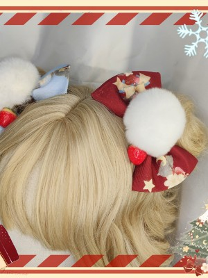 Christmas Sheep Bow Hair Clip