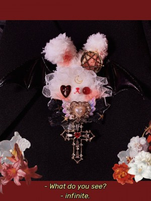 Lolita Plush Rabbit Brooch Hairpin