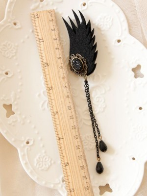 Dark Wings Fringe Earings