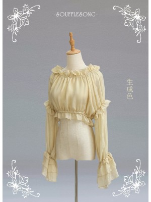 Soufflesong - Eternal Summer Elegant Long Sleeve Blouse