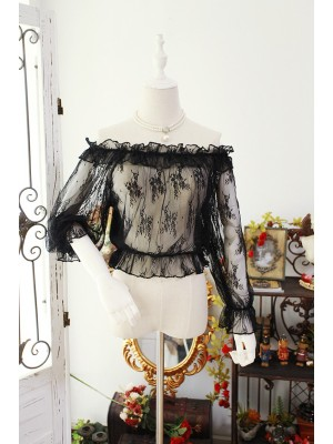 Flower Spirit See-through Short Blouse