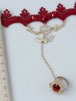 Gothic Red Lace Vintage Wrist Band