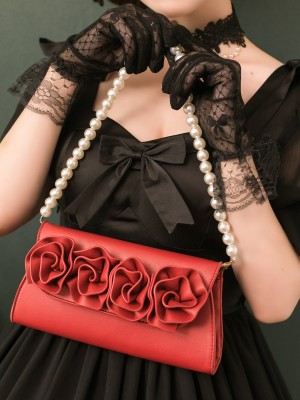 Holiday Rose Two-ways Pearl Chain Bag