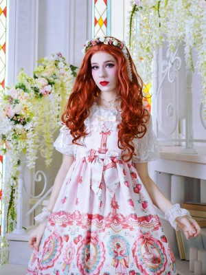 Strawberry Rabbit High-waisted Jumperskirt