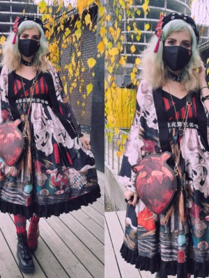 Takiyasha the Witch and the Skeleton Spectre Cross Collar Japanese Style Jumperskirt