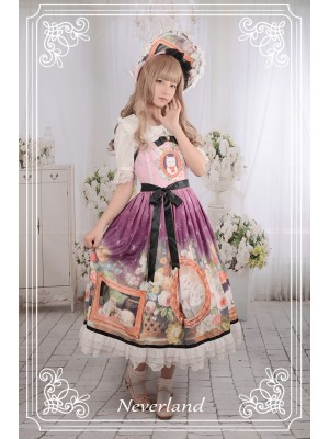 Kitty Courtyard Normal Waist Long Jumperskirt