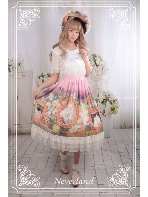 Kitty Courtyard Normal Waist Skirt