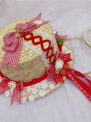 Knitting Straw Hat
