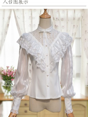 La Traviata Retro Long Sleeve Blouse