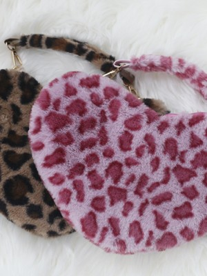 Leopard-print Envelope&Heat-shaped Bag