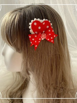 Love Heart Brooch Hair Clip