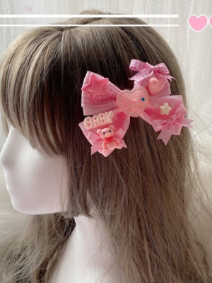Loving Heart Bowknot Hair Clip