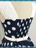 Miss Yaodu Polka Dot Herben One-piece