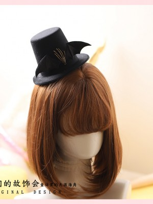 Gothic Skeleton Bat's wing MIni Hat