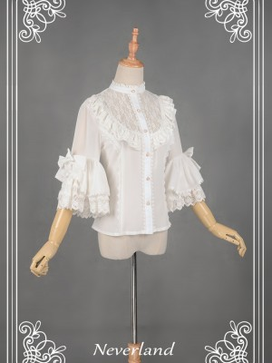 Secret Garden Chiffon Short Sleeve Blouse