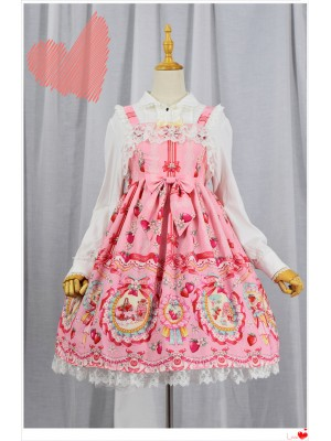 Strawberry Rabbit High-waisted Special Jumperskirt