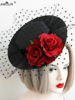 Vintage Tulle Flower Mini Top Hat