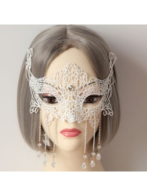 White Race Crystal Mask