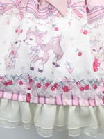 Sweet Cherry Deer Heart Belt Jumperskirt