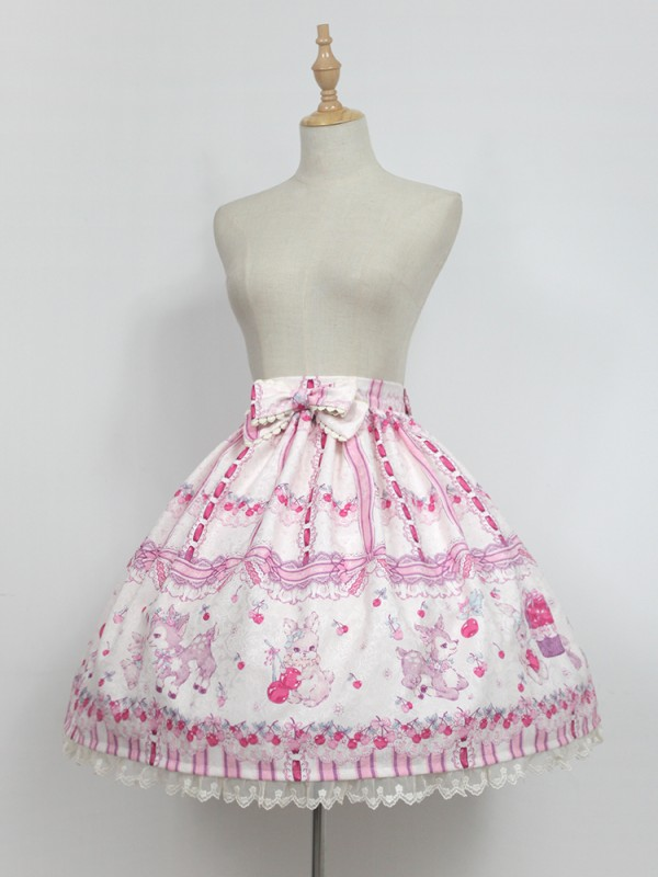 Sweet Cherry Deer Skirt