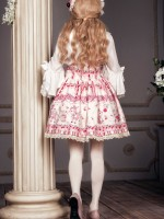 Sweet Cherry Deer Shoulder Strap Jumperskirt