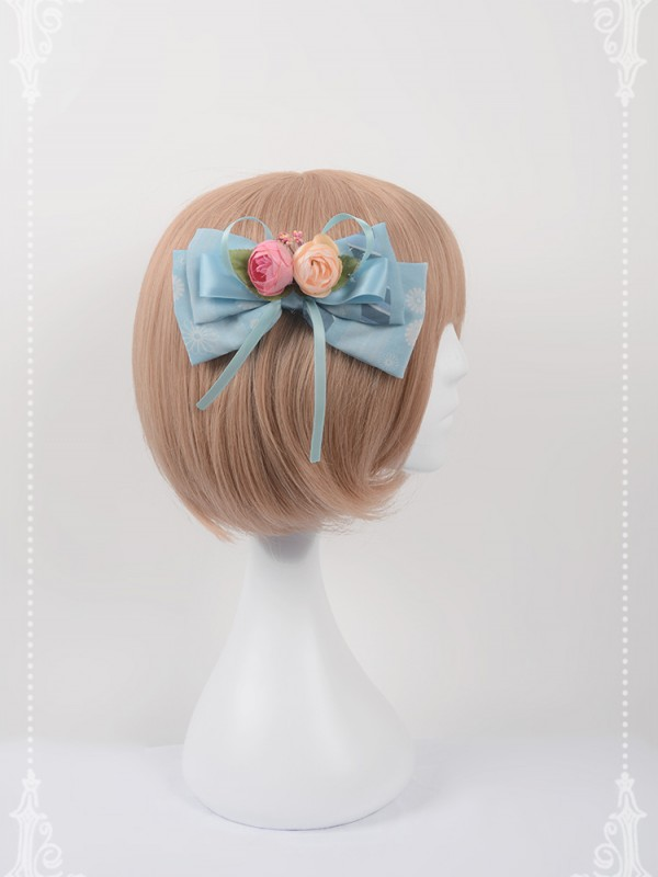 Chinese Walking Cat Flower Hair Clip