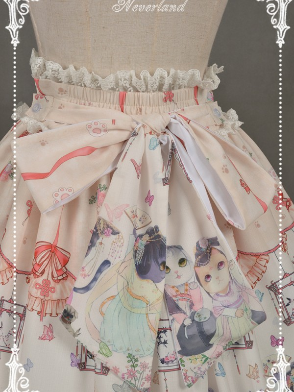 Chinese Walking Cat Skirt