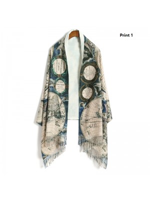 Ancient World Map Scarf