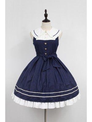 Morning Star Idol Campus Peter Pan Collar Jumperskirt