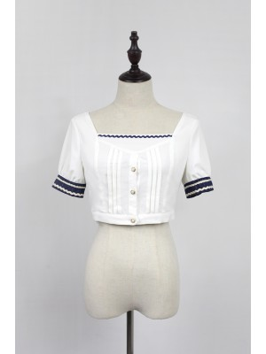 Morning Star Idol Campus Short Sleeve Blouse