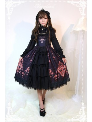 Jewel Swan Open Front Jumperskirt