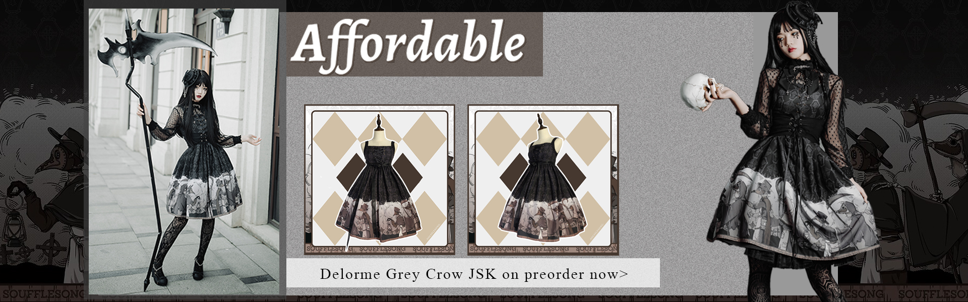 Delorme Grey Crow Jumperskirt
