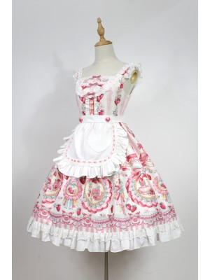 Strawberry Rabbit Apron Jumperskirt